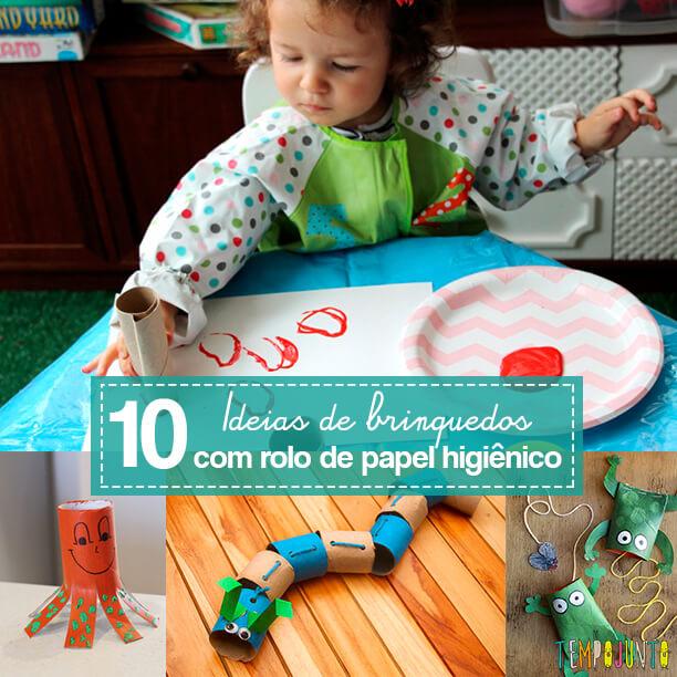 Mais 10 ideias de brinquedos com rolo de papel higiênico - capa