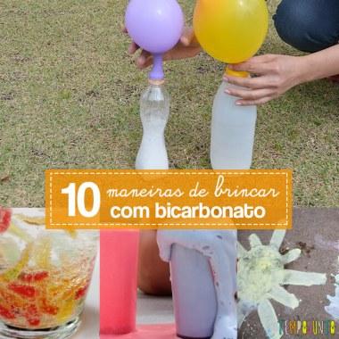 10 maneiras de brincar com bicarbonato de sódio
