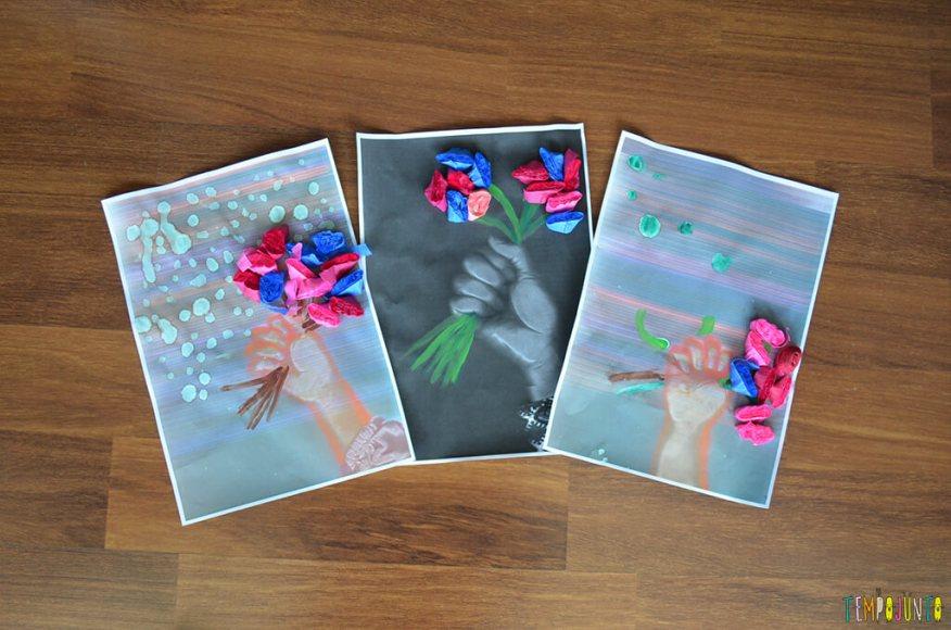 Arte com flores - quadros prontos