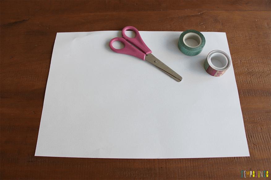 Caderninho de papel - materiais