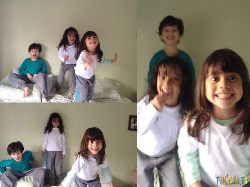 Pega roupas - crianças sorrindo