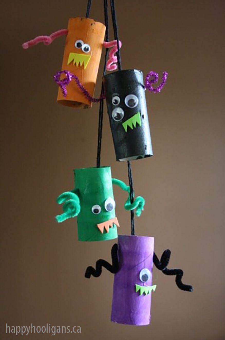 10 ideias para o halloween das criancas - mobile de monstro
