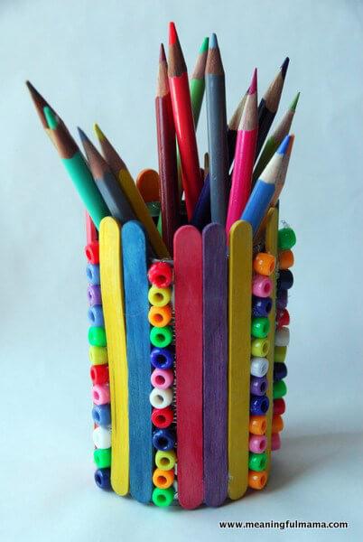 10 sugestões de presentes caseiros para o Dia dos Professores - porta lapis