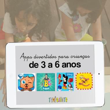 Dicas de aplicativos para brincar com crianças entre 3 e 6 anos