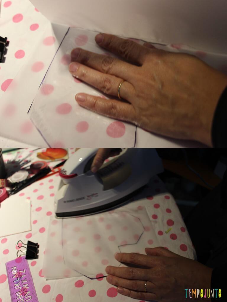 Como customizar um caderno com as criancas_7138_7140_esticando plastico com ferro