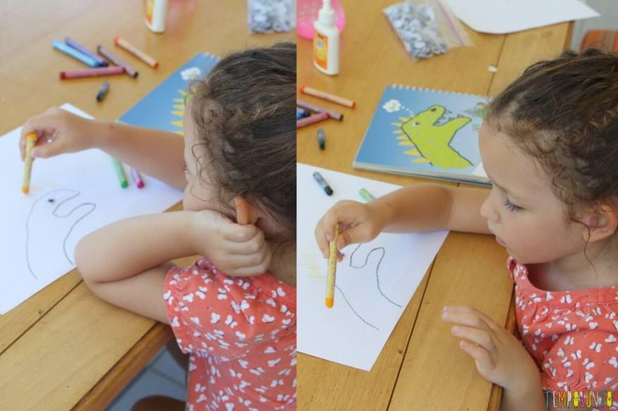 Como fazer desenho com as mãos - gabi pintando o desenho
