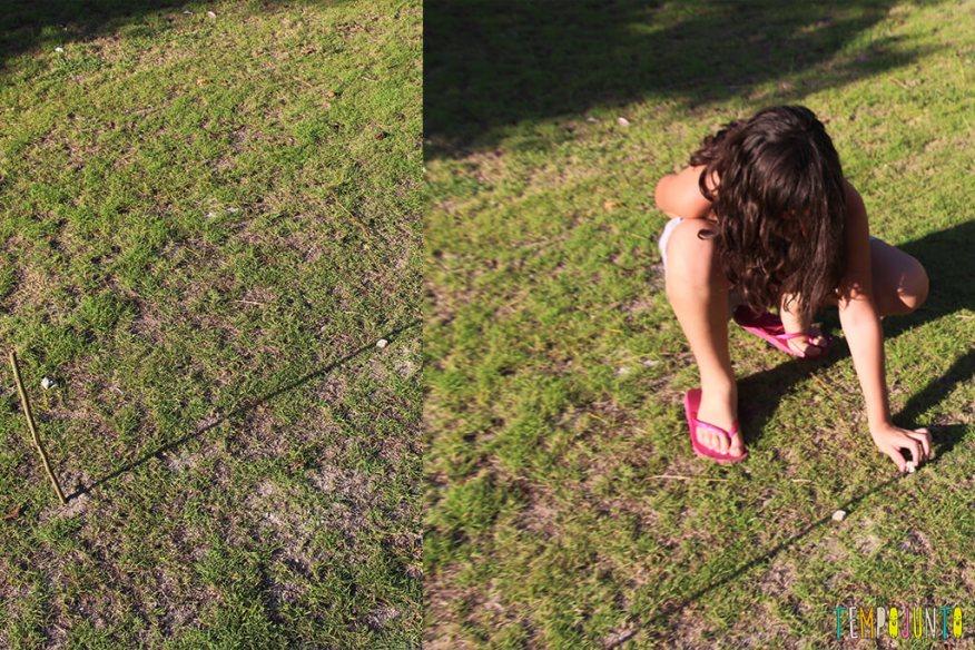 Como fazer uma bússola de sol - pedra final da sombra depois de um tempo