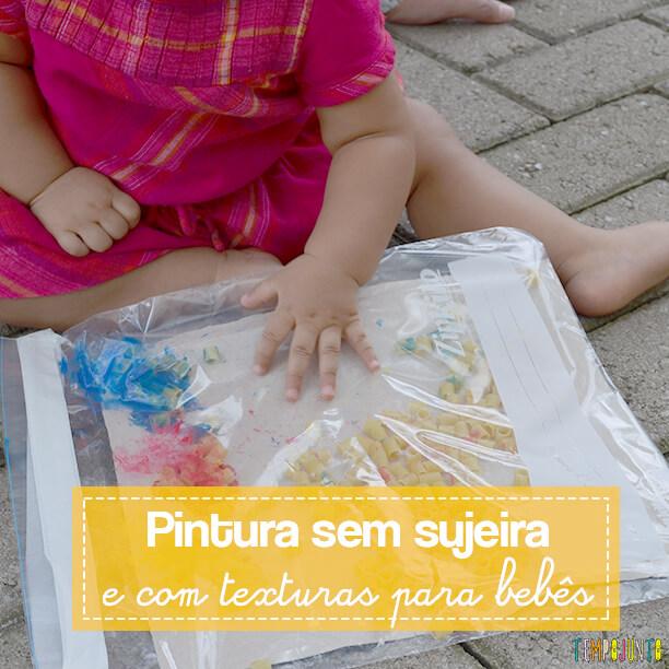 Pintura sensorial e sem sujeira para bebês