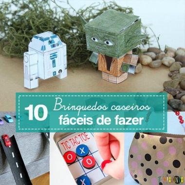 10 ideias de brinquedos caseiros fáceis de fazer
