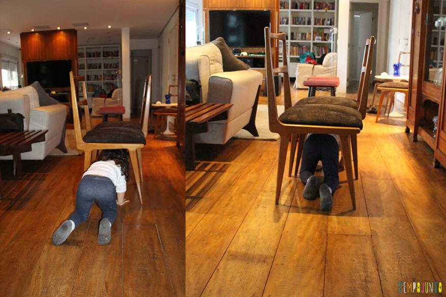 Circuito de atividades para crianças de todas as idades - gabi embaixo da cadeira