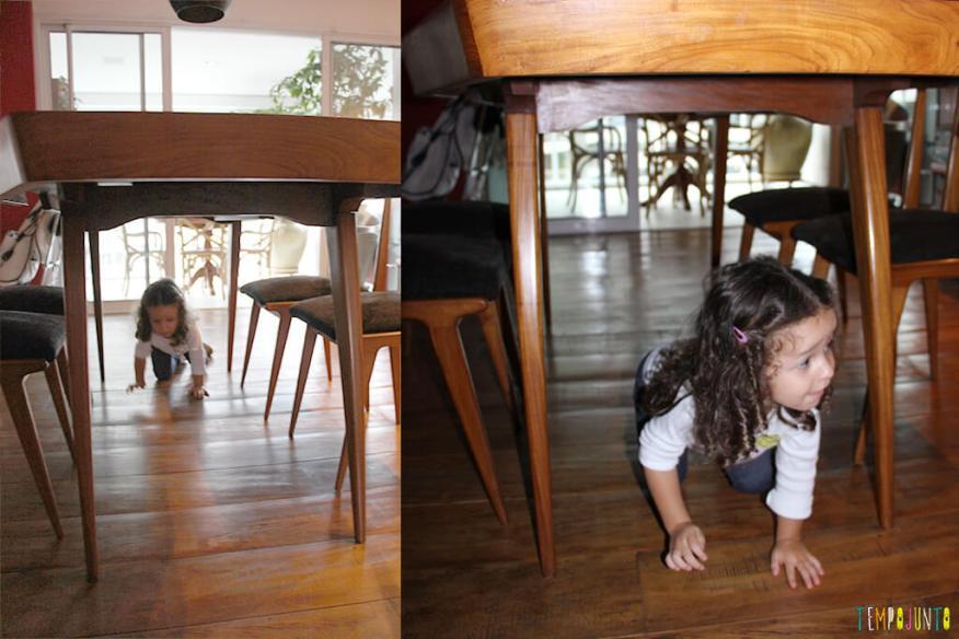 Circuito de atividades para crianças de todas as idades - gabi embaixo da mesa