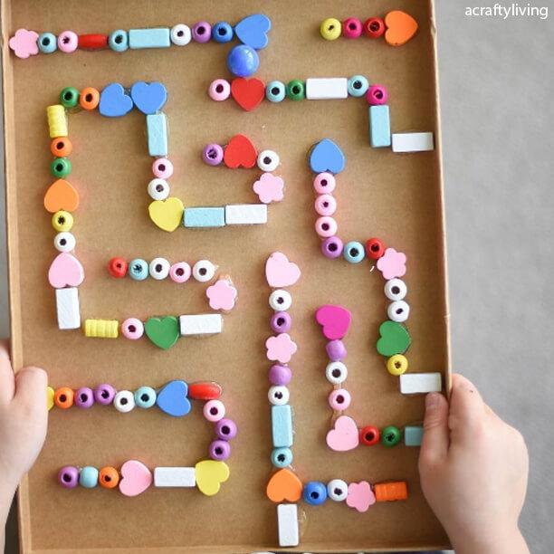 10 maneiras de fazer labirintos - labirinto de contas