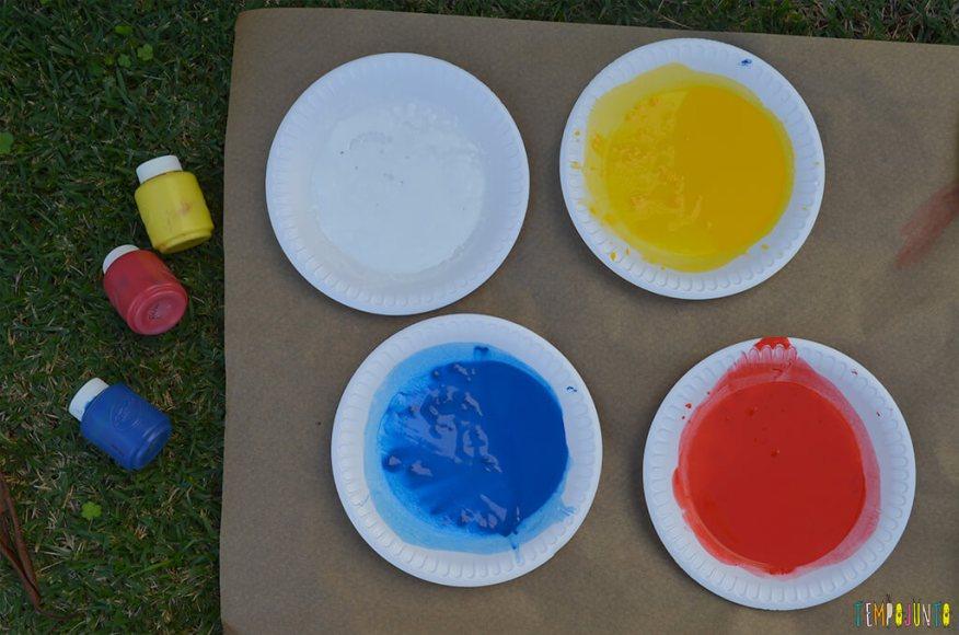 Arte fogos de artificio - pratos com cores