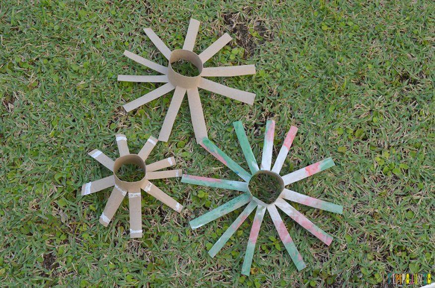 Arte fogos de artificio - rolos cortados