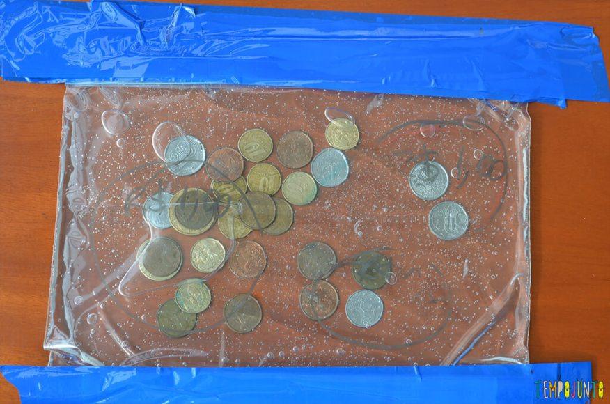 Mais utilidades do gel - saco com moedas inteiro