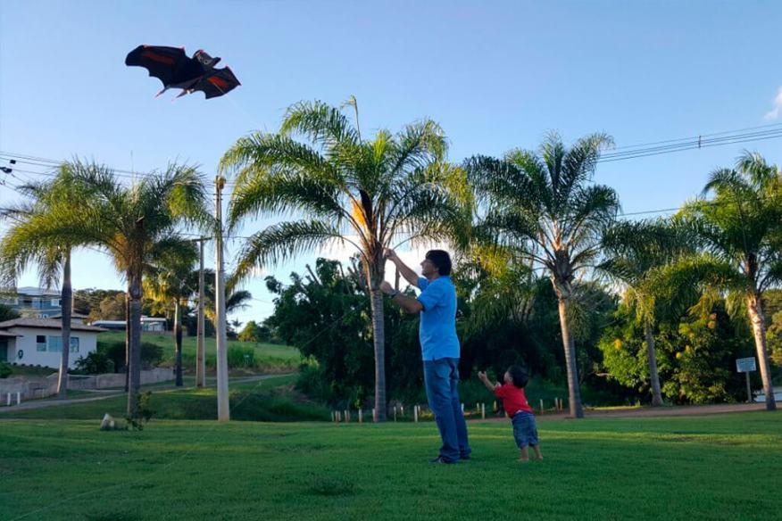 ocê no Tempojunto criatividade a mil por hora - Michelle Lucena - brincando com o pai