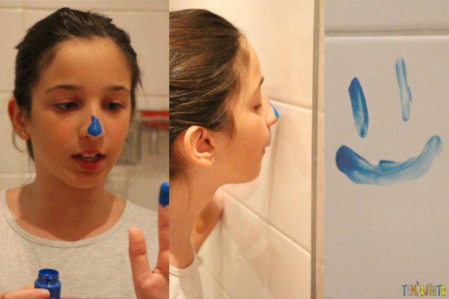 Pintura com o nariz um jeito diferente de pintar - carol pintando com o nariz