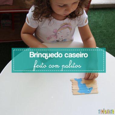 Como fazer um quebra-cabeças com palito de picolé