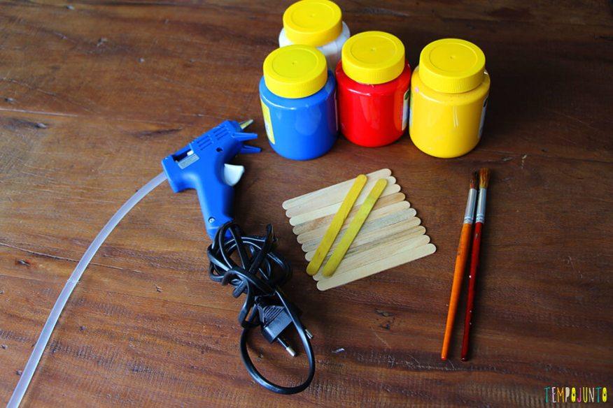 Um presente simples e criativo para o Dia dos Pais - materiais
