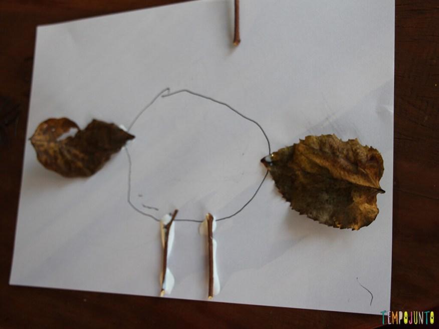Arte com folhas de árvore_0323_processo da colagem da gabi
