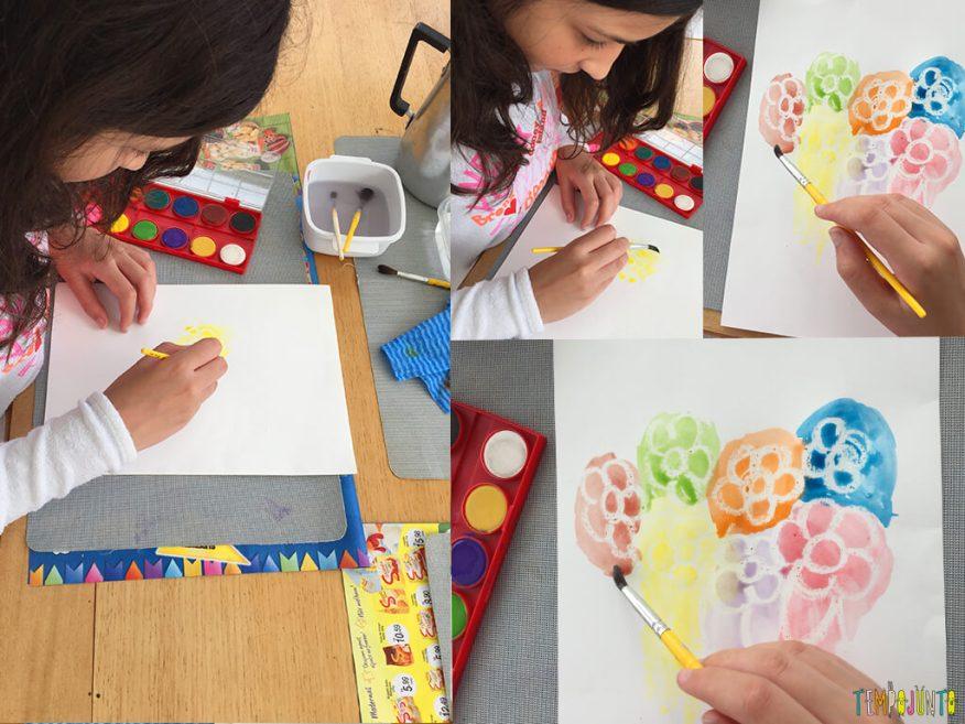 Como fazer o truque do desenho secreto - carol pintando o desenho