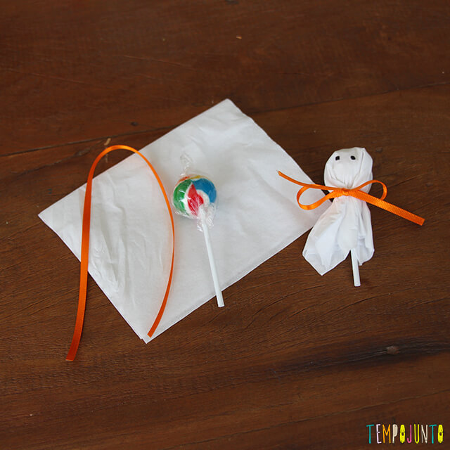 Como decorar uma festa de Halloween - fantasminhas de pirulito
