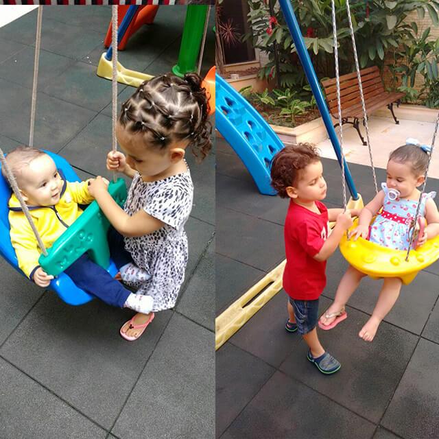 Você no Tempojunto Hedrienny Cardoso e a experiência com filhos com deficiência - criancas no balanco