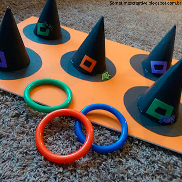 10 ideias criativas para o Dia das Bruxas - acerte o chapeu da bruxa