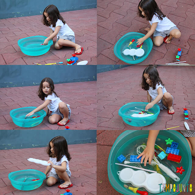 brincadeiras de flutuar com crianças de 3 anos