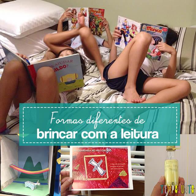 Formas diferentes de brincar com livros e representar as histórias