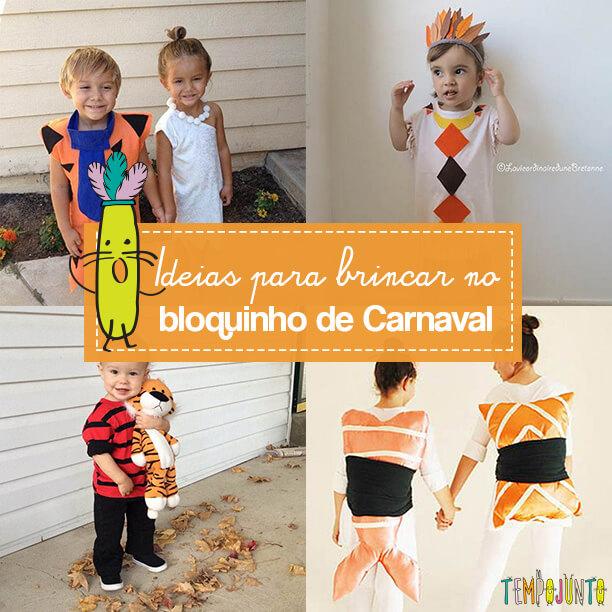 Fantasia para o bloquinho de Carnaval