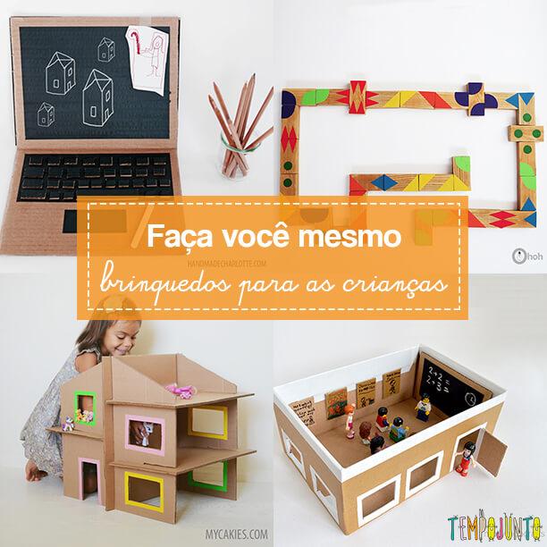 10 brinquedos criativos e fáceis de fazer