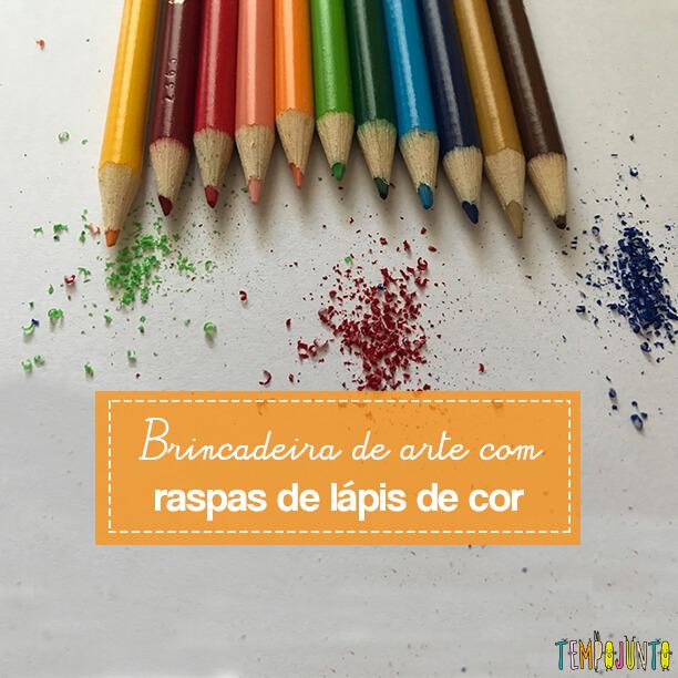 Arte com pó de lápis de cor para criar um mundo de fantasia