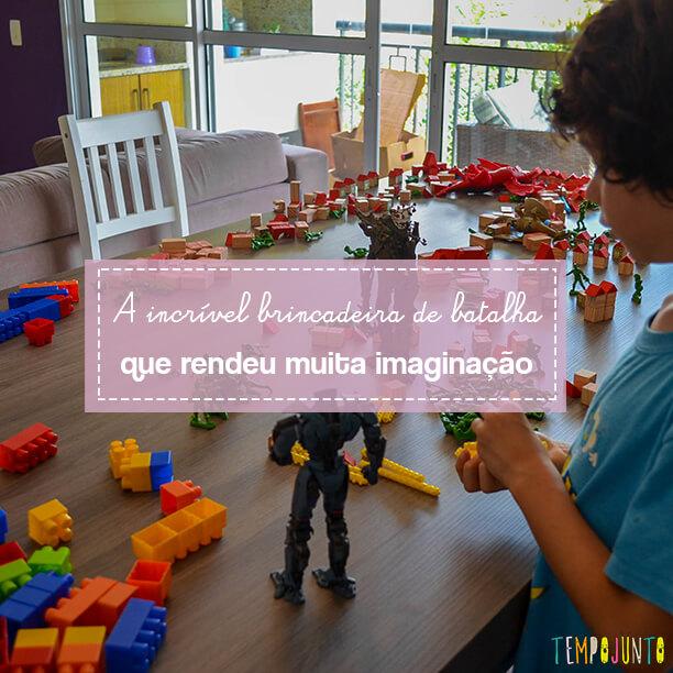 Um combate para estimular a imaginação das crianças
