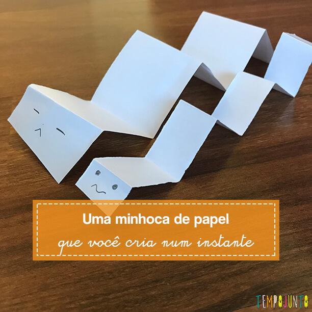 Um brinquedo de papel que é rápido de fazer e tem várias utilidades
