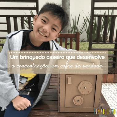 Brinquedo caseiro que desafia o raciocínio e concentração: o cofre de papelão