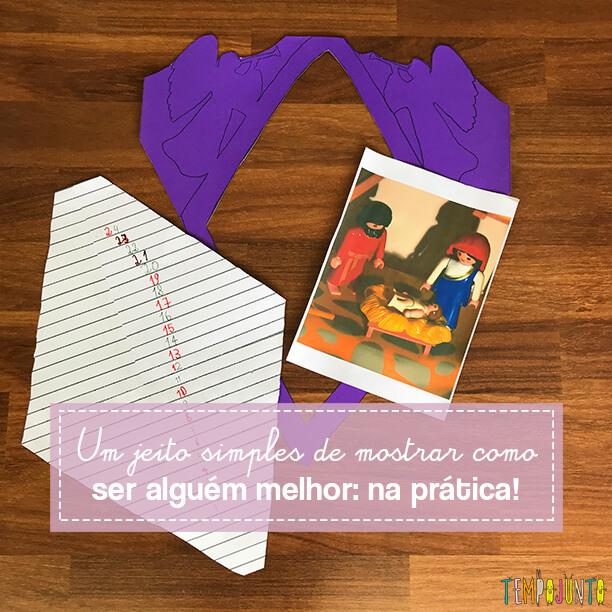 O Calendário do Advento para você mostrar a seus filhos brincando o sentido da generosidade