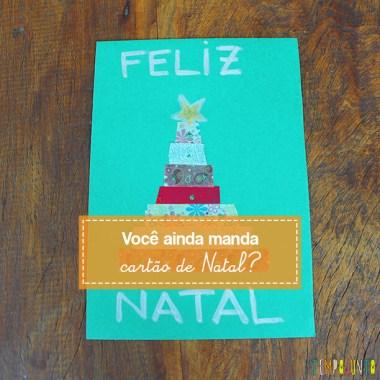 Cartão de Natal feito pelas crianças