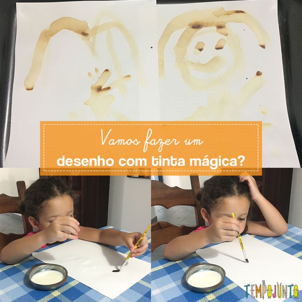 Como fazer tinta invisível com as crianças