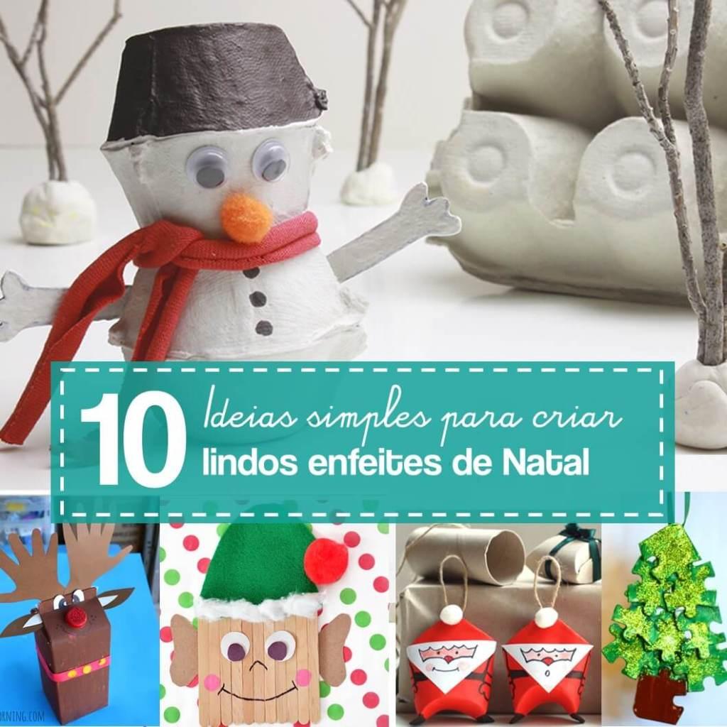 10 ideias para criar enfeites de Natal com sucata