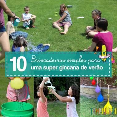 10 ideias para gincana nas férias de verão
