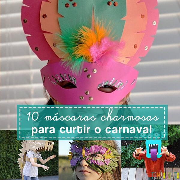 Como fazer máscara de Carnaval: 10 ideias