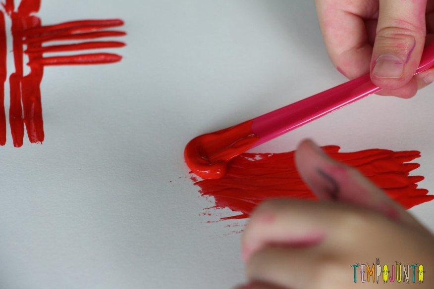 pintura com o cabo do garfo
