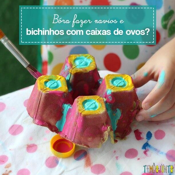 Atividades criativas com caixa de ovo
