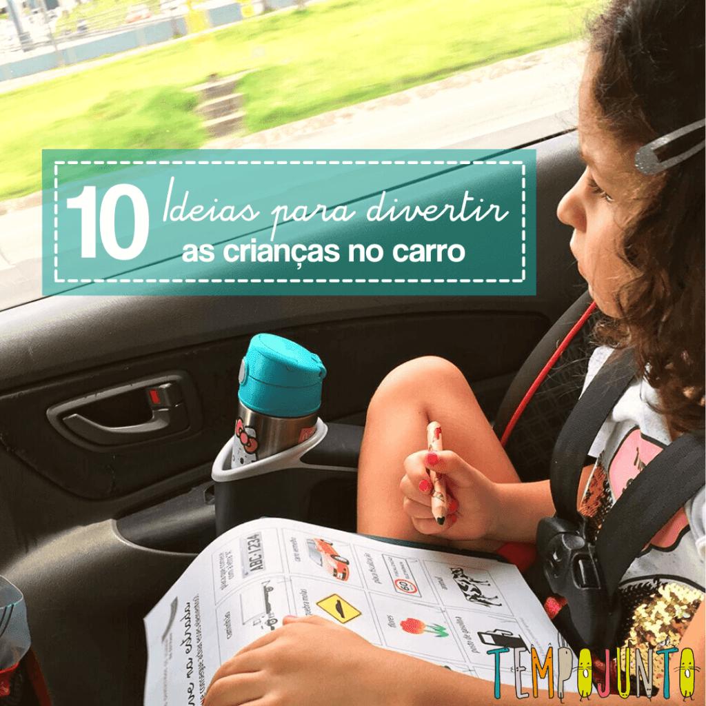 10 brincadeiras para distrair seus filhos no carro ou ônibus