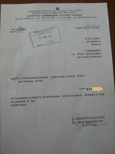 La lettera della dirigente scolastica protocollata