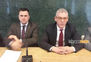 Il sindaco Petrarcone con l'assessore ai lavori pubblici Gino Ranaldi
