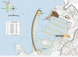 Il progetto del porto a Cala dell'Acqua
