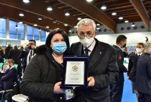 Veronica Nocella e Presidente Fitarco Mario Scarsella