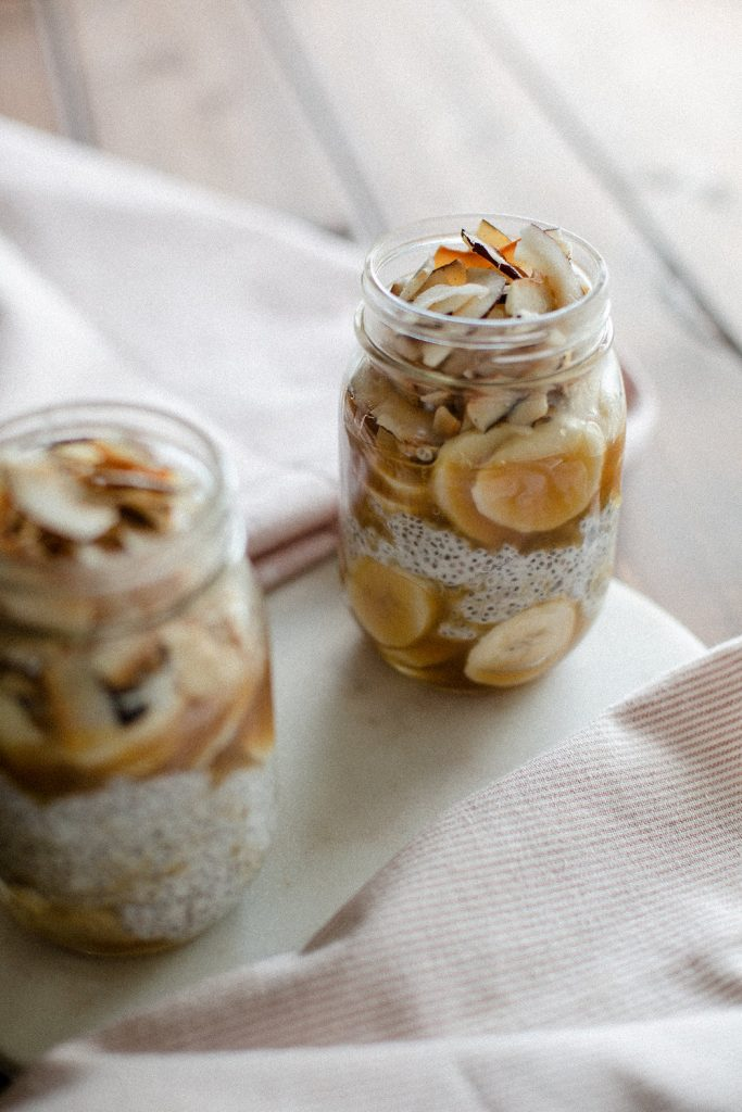 Coconut Caramel Chia pudding vegan homemade
